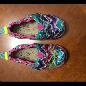 Bobs by Skechers Multicolored Sequin Flats